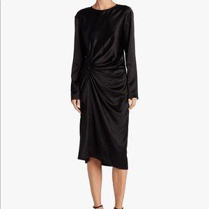 Helmut Lang crinkle midi dress